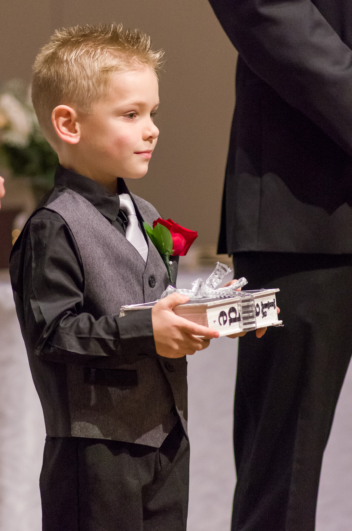 Another adorable ring bearer.... a trend I see!