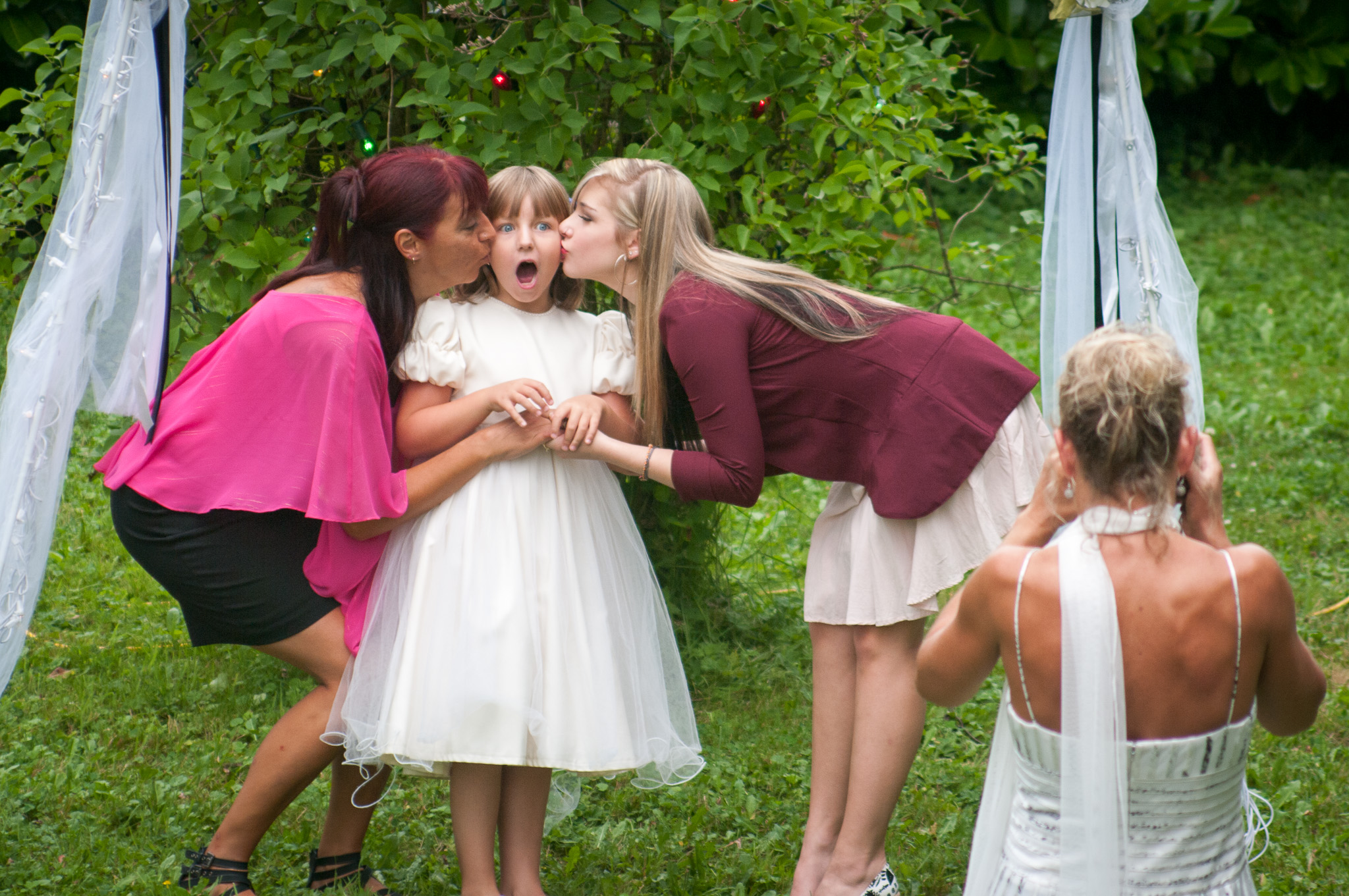Another flower girl trying to steal the show :)