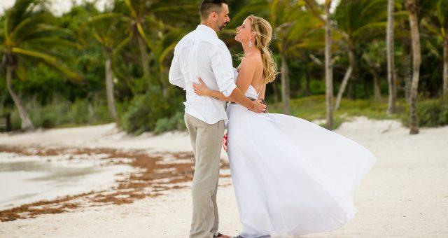 Destination Wedding at Barcelo Maya Beach Resort in Mexico - Tammy and Jason
