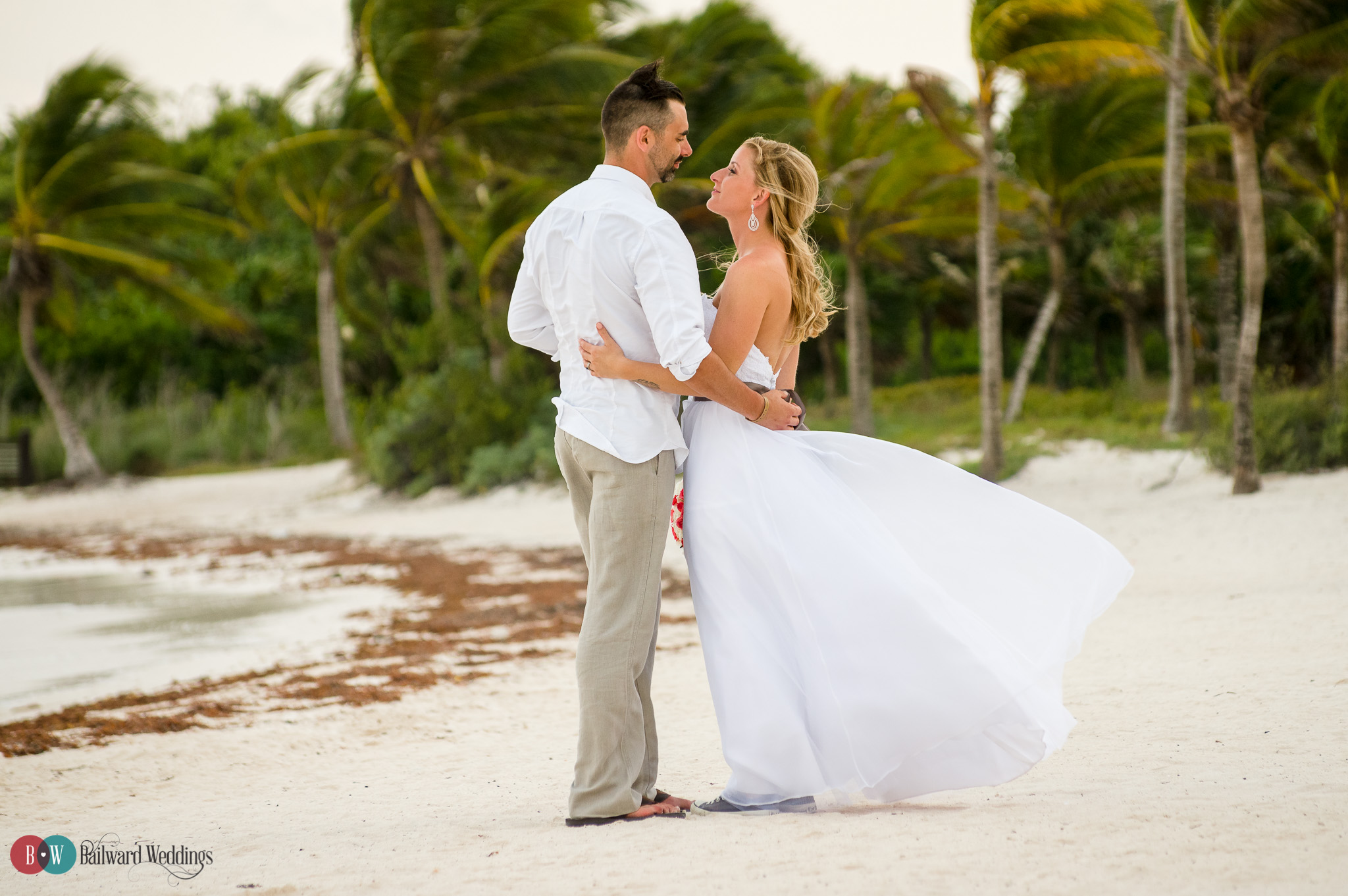 Tammy and Jason Destination Wedding in Barcelo Maya Beach Resort Mexico