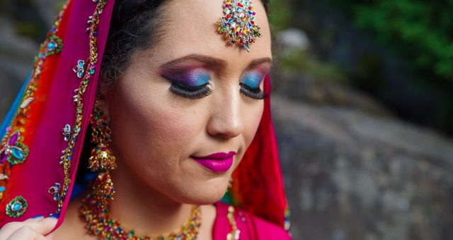 Styled East Indian Wedding Makeup Photography in Queen Elizabeth Park Vancouver